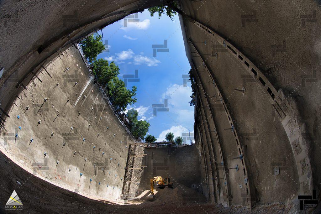 پایدارسازی گود به روش ترکیبی دیوار برلنی و مهارگذاری – شرکت ایستاسازه