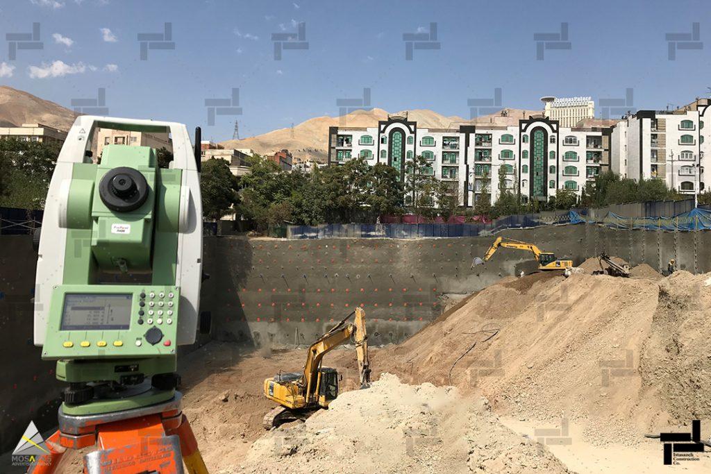 پایش دیواره های گود - توسط مدیران شرکت ایستاسازه