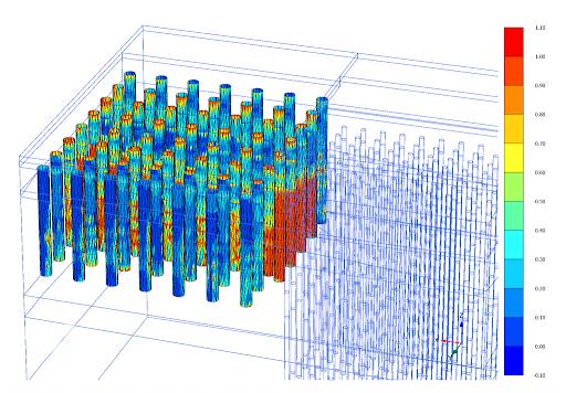 مقاومت نمونه های اخذ شده از ستون های سیستم جت گروتینگ