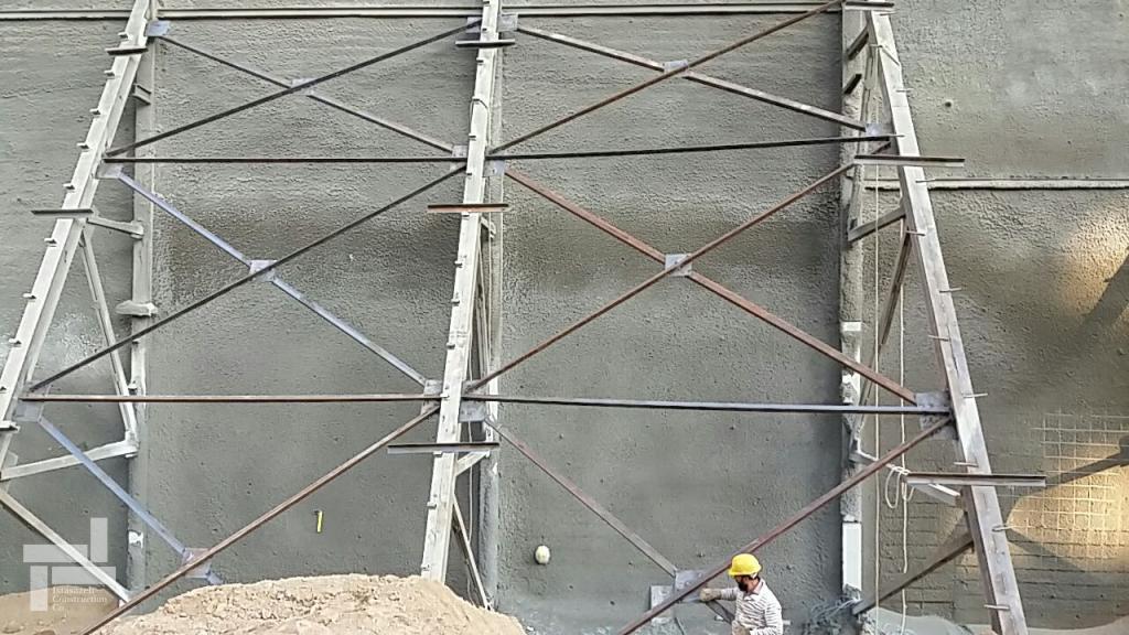 اتصال خرپاهای مجاور در پروژه جنت آباد شرکت ایستاسازه