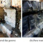 اتصال کام و زبانه (شیاری) بین دیوار دیافراگمی و دال بتنی و اجرای آب بند