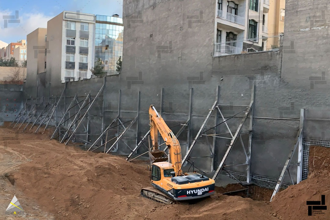 سازه نگهبان خرپایی چیست؟ (Truss Retaining Structure)