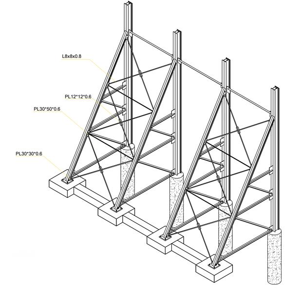نمای 3 بعدی اجرای سازه نگهبان