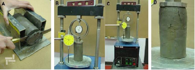 تجهیزات آزمایش تک محوری خاک , مطالعات ژئوتکنیک (Unconfined Compression Test)