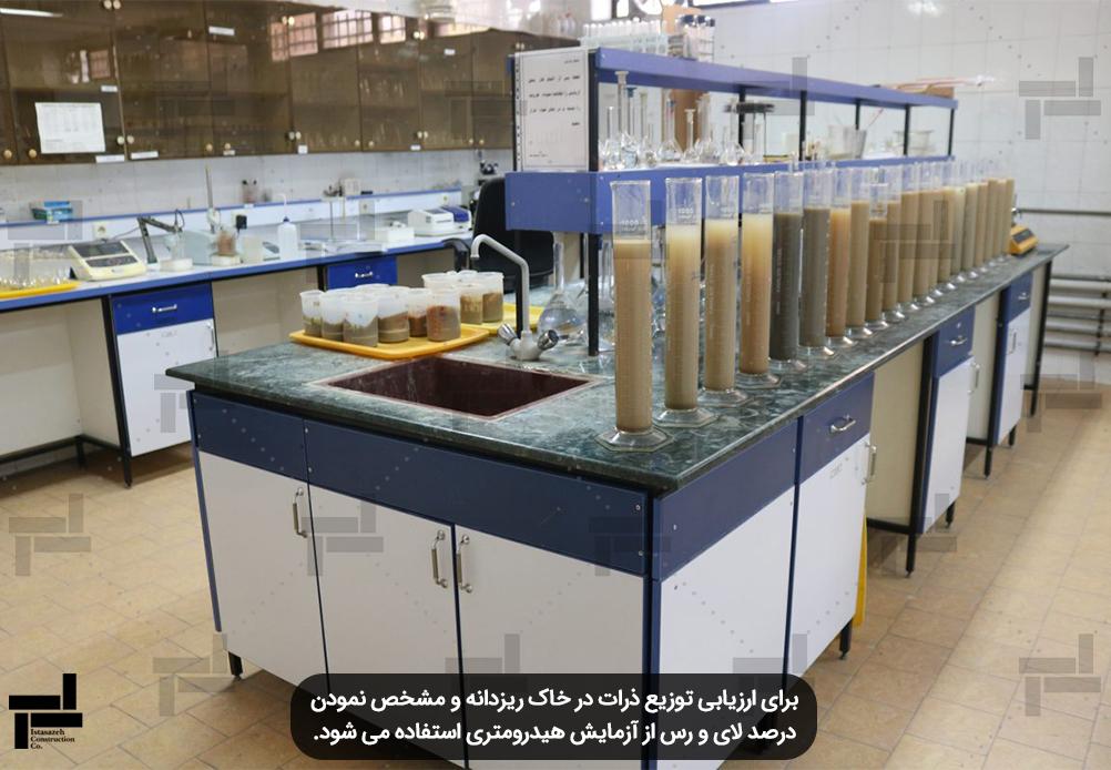 تجهیزات آزمایش هیدرومتری , مطالعات خاک (Hydrometer Analysis) - شرکت عمرانی ایستا سازه