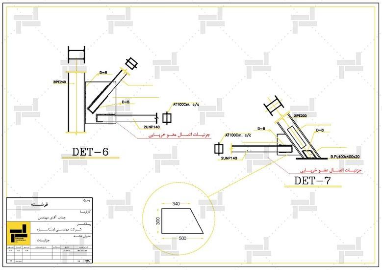 توضیحات و جزئیات اتصال اعضای مختلف سازه خرپایی - شرکت ایستا سازه