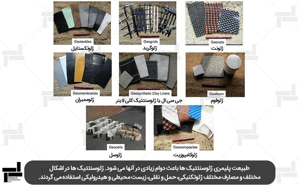 انواع مختلف خاک مسلح (ژئوسنتتیک) - شرکت عمرانی مهندسی ایستا سازه