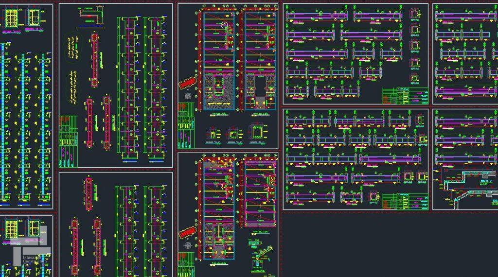 ترسیم نقشه های سازه توسط نرم افزار اتوکد (AutoCAD)
