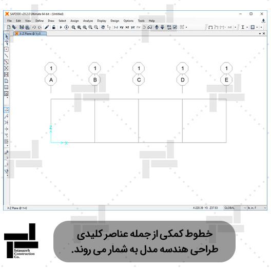 خطوط کمکی در نرمافزار سپ ۲۰۰۰