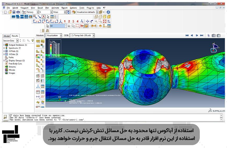 مدل سازی اتصال سازه فضا کار با المان Solid و به دست آوردن نمودار بار - جابجایی در نرم افزار ABAQUS - شرکت عمرانیایستا سازه