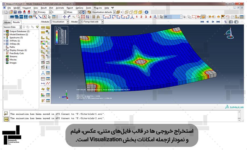 مدل غیر خطی دال بتن آرمه در نرم افزار آباکوس - شرکت مهندسی ایستا سازه