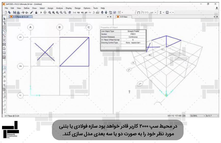 نرم افزار سپ 2000 -شرکت عمرانی ایستاسازه