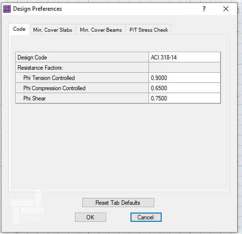 پنجرهی Design Preferences