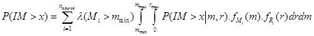 فرمول احتمال فراگذشت پارامتر جنبش زمین - ایستاسازه