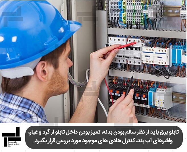 بازرسی تاسیسات برقی - مبحث 22 مقررات ملی ساختمان - شرکت عمرانی مهندسی ایستا سازه