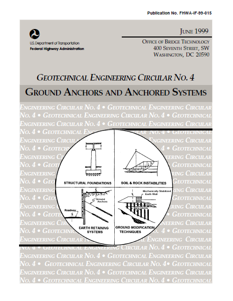 Geotechnical Engineering Circular no.4 – Ground Anchors and Anchored System