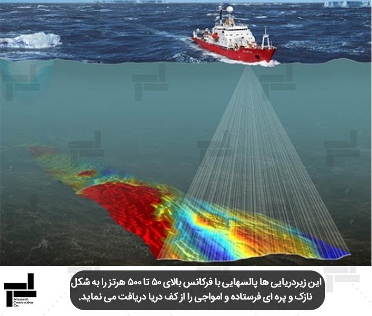 تهیه ی توپوگرافی بستر دریا - شرکت ایستا سازه