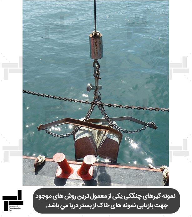 نمونه گیر چنگکی - تحقیقات محلی در پروژه های ژئوتکنیک دریایی