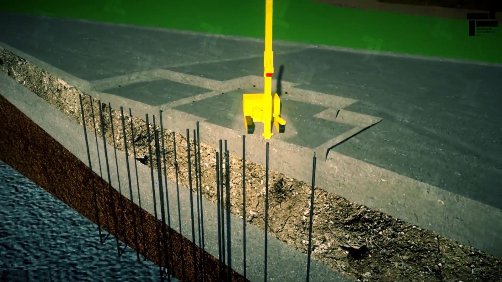 انیمیشین بهسازی خاک به روش میکروپایل