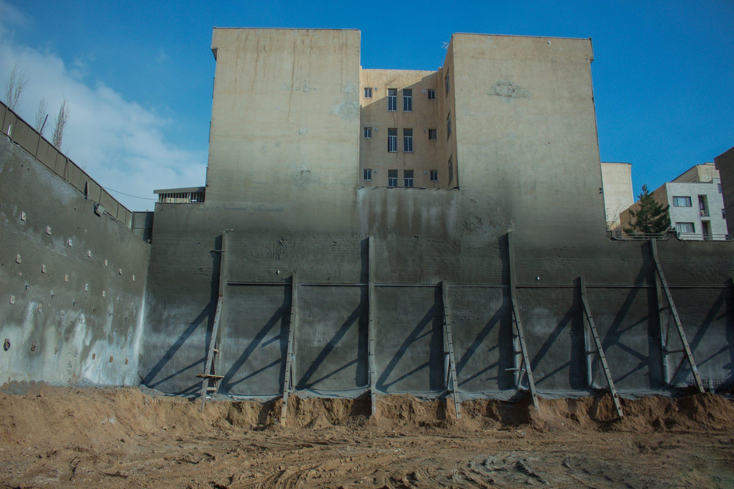 ایستا سازه - سازه نگهبان خرپایی و نیلینگ – پروژه جنت آباد