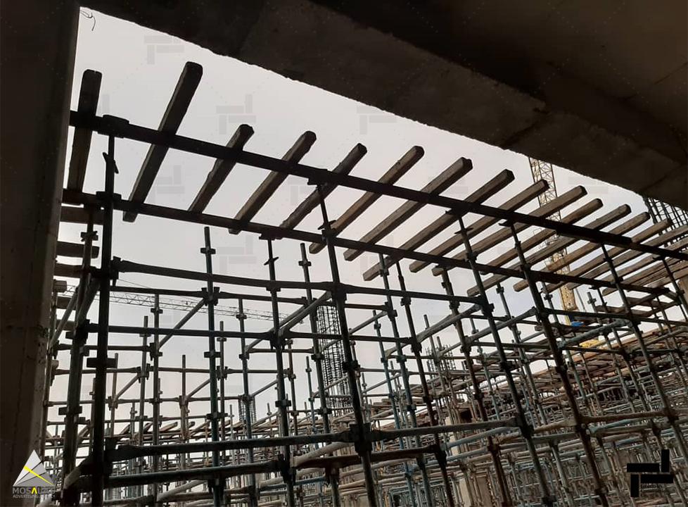 کُفراژبندی و دکفراژ در ساختمان های بتنی با استفاده از قالب های چوبی