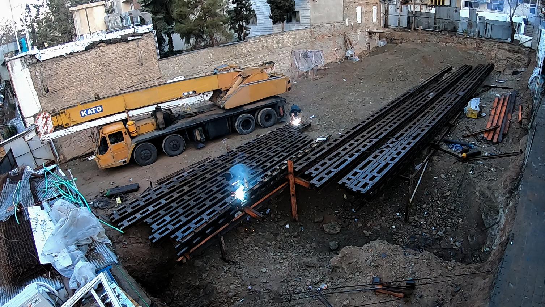 پروژه یوسف آباد - ساخت سولجر و نصب سازه دیوار برلنی - ایستا سازه